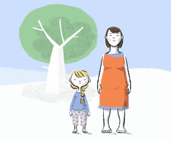 Foto Illustration Mutter und Kind