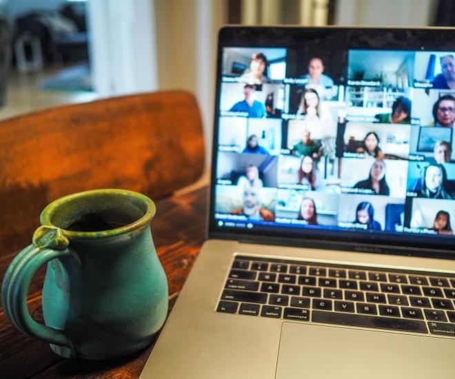 Foto Zoom und Kaffee