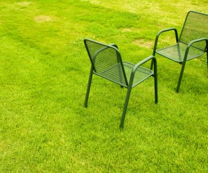 Foto Stühle auf Rasen