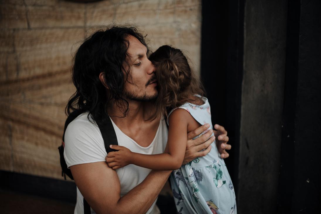 Foto Vater mit Tochter